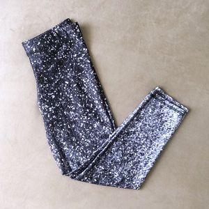Zara Terez Glitter Black and White Capri Leggings